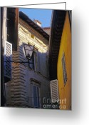 Stucco Walls Greeting Cards - Siena Street Greeting Card by Gordon Wood