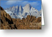 The Edge Greeting Cards - Sierra Nevada California Greeting Card by Bob Christopher