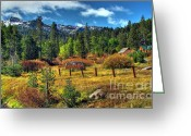 Red Fall Colors Greeting Cards - Sierra Nevada Fall Majesty Greeting Card by Scott McGuire