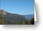 Mountain View Greeting Cards - Sierra Nevada Mountains 3 Greeting Card by Irina  March