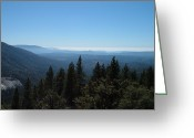 Mountain View Greeting Cards - Sierra Nevada Mountains Greeting Card by Irina  March