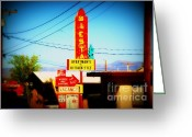 The Mother Road Greeting Cards - Siesta Motel on Route 66  Greeting Card by Susanne Van Hulst