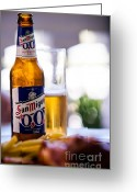 Dinner Greeting Cards - Siesta Time I. Beer Sun Miguel Greeting Card by Jenny Rainbow