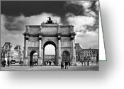 Architectural Greeting Cards - Sightseeing at Louvre Greeting Card by Elena Elisseeva