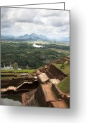 Monastery Greeting Cards - Sigiriya ruins Greeting Card by Jane Rix