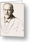 Freud Greeting Cards - Sigmund Freud, Father Of Psychoanalysis Greeting Card by Science Source