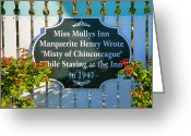 Misty Prints Prints Greeting Cards - Sign For Miss Mollys Inn Greeting Card by Steven Ainsworth