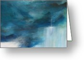 "\\\\\\\""storm Prints\\\\\\\\\\\\\\\"" Painting Greeting Cards - Sign From Above Greeting Card by Toni Grote"