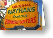 Nathans Greeting Cards - Sign of the Times Greeting Card by Stephen Shub