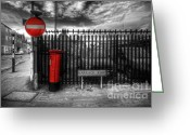 Selective Color Greeting Cards - Sign Sealed Delivered Greeting Card by Yhun Suarez
