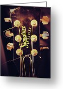 Signature Photo Greeting Cards - Signature Guitar Greeting Card by Toni Hopper