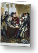 Signing Greeting Cards - Signing Magna Carta, 1215 Greeting Card by Granger