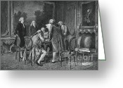 Signing Greeting Cards - Signing Treaty Of Peace, 1782 Greeting Card by Photo Researchers