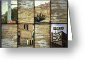Advertisements Greeting Cards - Signs of Salida Greeting Card by Ann Powell