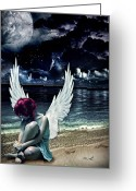 Mo Greeting Cards - Silence of an Angel Greeting Card by Mo T