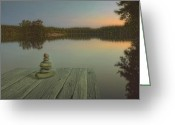 Photomanipulation Digital Art Greeting Cards - Silence of the wilderness Greeting Card by Veikko Suikkanen