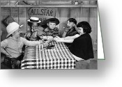 Little Greeting Cards - Silent Film: Little Rascals Greeting Card by Granger