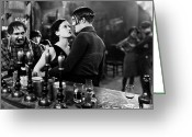 Intoxicated Greeting Cards - Silent Film: Paris, 1926 Greeting Card by Granger