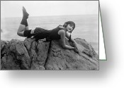 1930s Greeting Cards - Silent Film Still: Beaches Greeting Card by Granger
