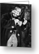 Whirl Of Life Greeting Cards - Silent Film Still: Clown Greeting Card by Granger