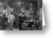 Film Still Photo Greeting Cards - Silent Film Still: Fashion Greeting Card by Granger