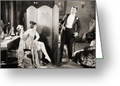 Tuxedo Greeting Cards - Silent Film Still: Legs Greeting Card by Granger