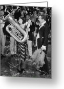 Tuba Greeting Cards - Silent Film Still: Music Greeting Card by Granger