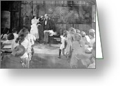 Schoolgirl Greeting Cards - Silent Film Still: School Greeting Card by Granger
