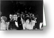 Bowtie Greeting Cards - Silent Film Still: Theatre Greeting Card by Granger