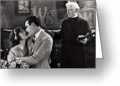 Film Still Photo Greeting Cards - Silent Film Still: Wedding Greeting Card by Granger
