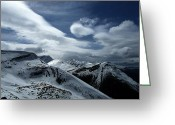 Dark Gray Blue Greeting Cards - Silent Majesty Greeting Card by Shirley Sirois
