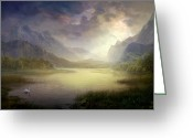 Philip Straub Greeting Cards - Silent Morning Greeting Card by Philip Straub
