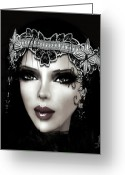 Starlet Greeting Cards - Silent Screen Star Greeting Card by Rosy Hall