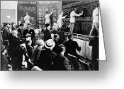 20th Century Photo Greeting Cards - Silent Still: Banking Greeting Card by Granger