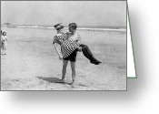Lover Greeting Cards - Silent Still: Beach Greeting Card by Granger