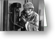 Glove Greeting Cards - Silent Still: Telephone Greeting Card by Granger