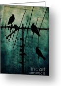 Faded Greeting Cards - Silent Threats Greeting Card by Andrew Paranavitana