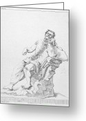 Intoxicated Greeting Cards - Silenus Greeting Card by Granger