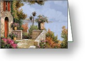 Door Greeting Cards - Silenzio Greeting Card by Guido Borelli