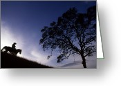 Image Type Photo Greeting Cards - Silhouette Of Cowboy Greeting Card by Kate Thompson