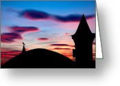 Shade Greeting Cards - Silhouette Greeting Card by Okan YILMAZ