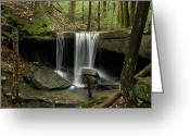 Spout Photo Greeting Cards - Silken  Water Fall 100 Greeting Card by Douglas Barnett
