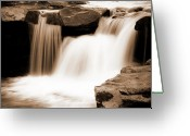 Tamyra Ayles Greeting Cards - Silken Waters Greeting Card by Tamyra Ayles