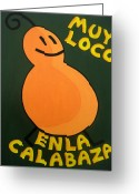 Gloss Greeting Cards - Silly Squash Greeting Card by Oliver Johnston