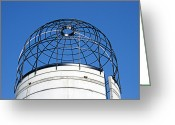 Kansas City Missouri Greeting Cards - Silo Look Out At Powell Gardens Greeting Card by Andee Photography