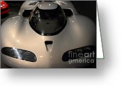Race Car Photo Greeting Cards - Silver 1992 Oldsmobile Aerotech . 7D17292 Greeting Card by Wingsdomain Art and Photography
