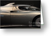 Racecars Greeting Cards - Silver 1992 Oldsmobile Aerotech . 7D17294 Greeting Card by Wingsdomain Art and Photography