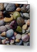 Petoskey Painting Greeting Cards - Silver Beach Greeting Card by Caroline Kwas