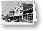 N Framed Prints Greeting Cards - Silver City New Mexico Greeting Card by Jack Pumphrey