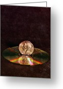 Cd Greeting Cards - Silver Dollar Greeting Card by Peter Chilelli